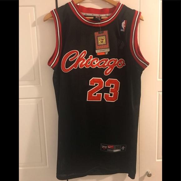 watch 20075 65a25 Chicago Bulls throwback black Alternative Jersey
